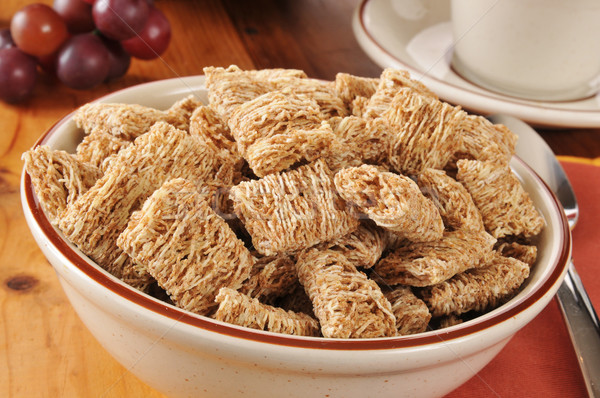 Shredded organic wheat cereal Stock photo © MSPhotographic