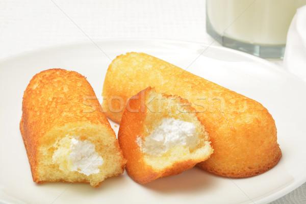 Cream filled snack  cakes Stock photo © MSPhotographic