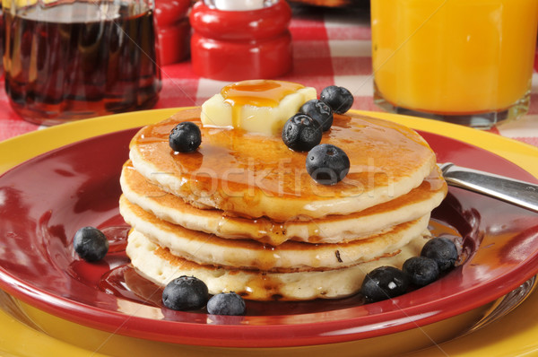 Pancakes with blueberries Stock photo © MSPhotographic