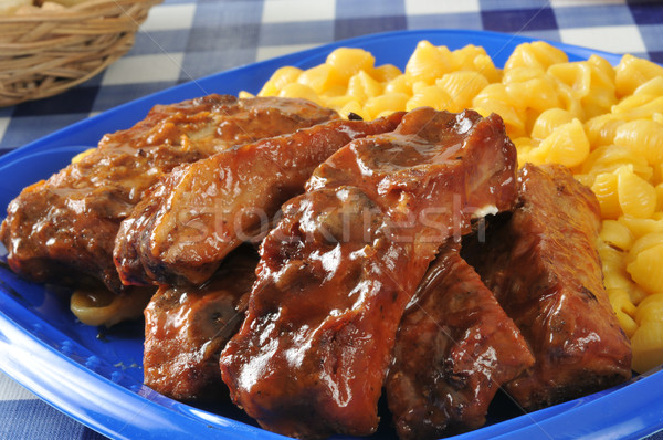 Barbecued ribs closeup Stock photo © MSPhotographic