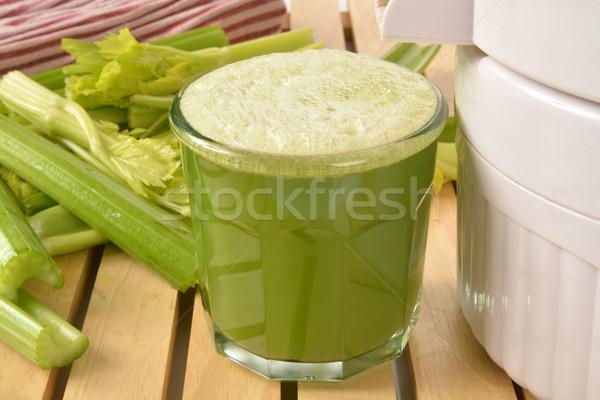 Kereviz meyve suyu cam taze organik Stok fotoğraf © MSPhotographic