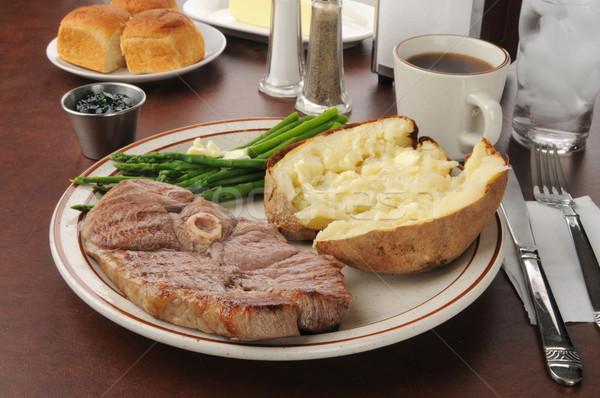 Lamb chop dinner Stock photo © MSPhotographic