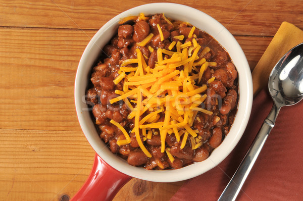 Chili with cheddar cheese Stock photo © MSPhotographic