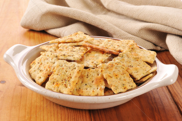 Herb flavored crackers Stock photo © MSPhotographic