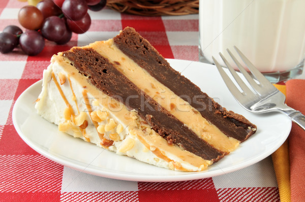 Peanut butter brownie cheesecake Stock photo © MSPhotographic