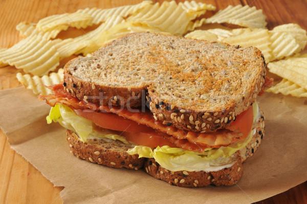 ベーコン レタス トマト サンドイッチ blt オーガニック ストックフォト © MSPhotographic