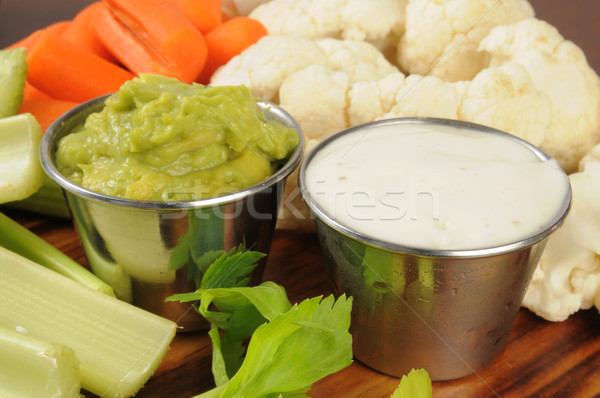 Vegetables and dips Stock photo © MSPhotographic