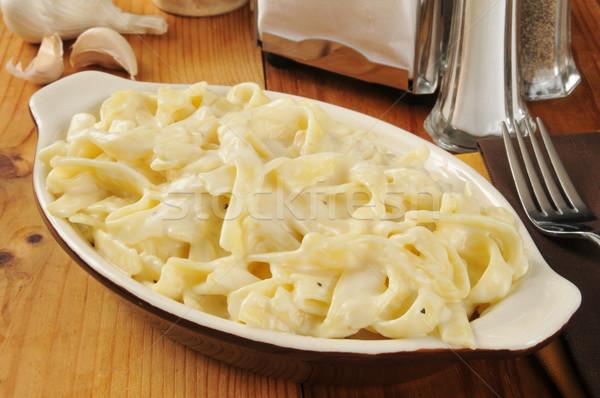 Fettuccini Alfredo Stock photo © MSPhotographic