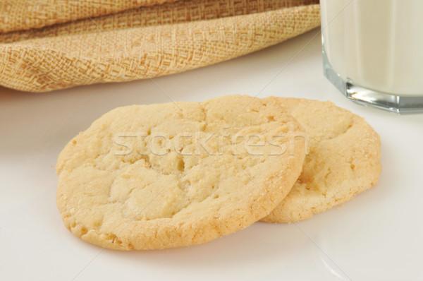 Cukor sütik friss sült üveg tej Stock fotó © MSPhotographic