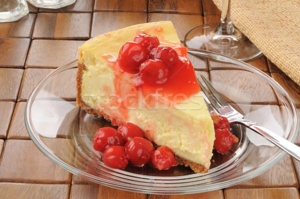 cheesecake with cherries Stock photo © MSPhotographic
