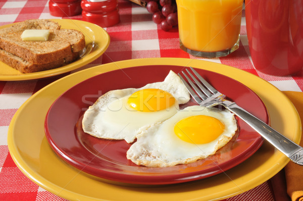 Fried eggs and toast Stock photo © MSPhotographic