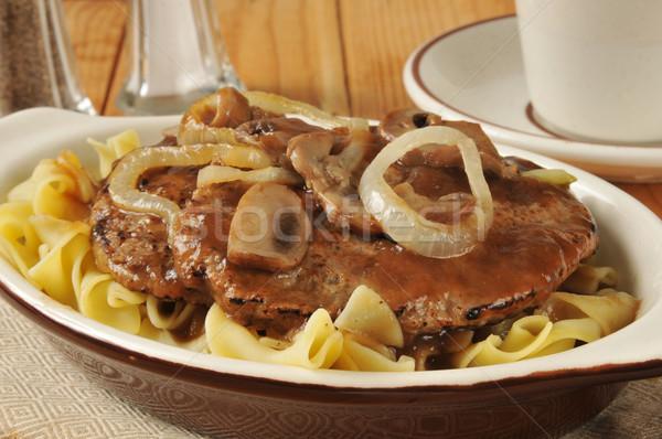 Salisbury steak closeup Stock photo © MSPhotographic