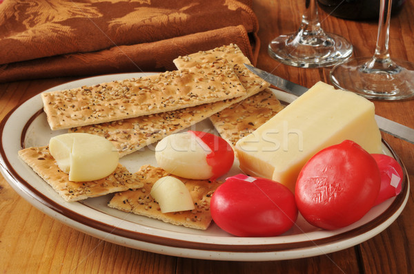Asiago and assorted cheeses Stock photo © MSPhotographic