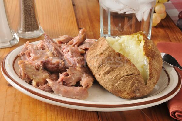 turkey and baked potato Stock photo © MSPhotographic