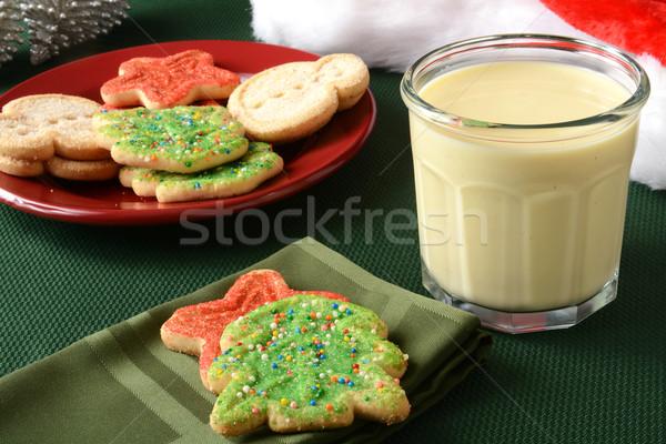 Christmas cookies and egg nog Stock photo © MSPhotographic
