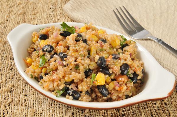 Healthy black bean and quinoa salad Stock photo © MSPhotographic