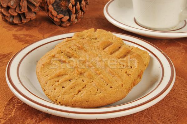 Арахисовое масло Cookies домой праздник таблице Сток-фото © MSPhotographic