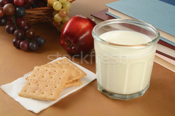 Süt okul cam elma sağlıklı Stok fotoğraf © MSPhotographic