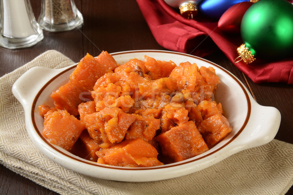 Sweet potatoes with cranberry and pecans Stock photo © MSPhotographic