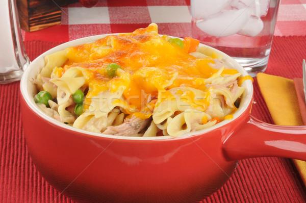Tuna casserole with cheese Stock photo © MSPhotographic