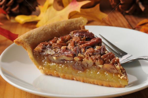 Delicious pecan pie Stock photo © MSPhotographic