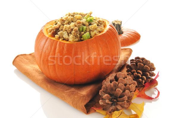 Stuffing in a pumpkin Stock photo © MSPhotographic
