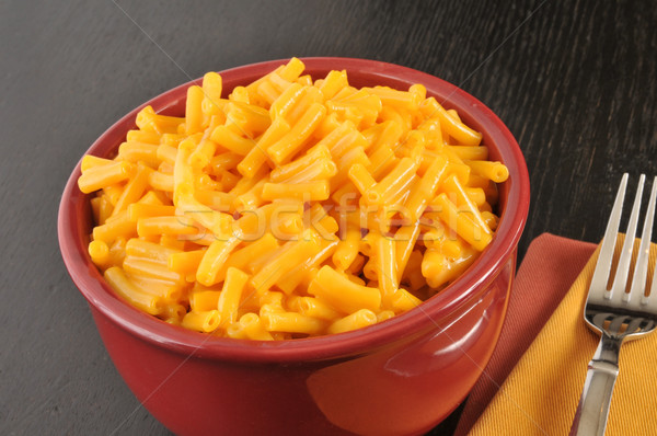 Bowl of macaroni and cheese Stock photo © MSPhotographic