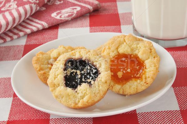 グルメ クッキー 桃 ブラックベリー ジャム 充填 ストックフォト © MSPhotographic