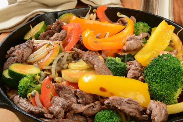 Beef stir fry Stock photo © MSPhotographic