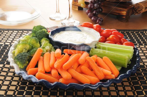 Vegetable tray Stock photo © MSPhotographic