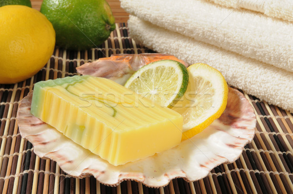 Citris infused glycerin soap Stock photo © MSPhotographic