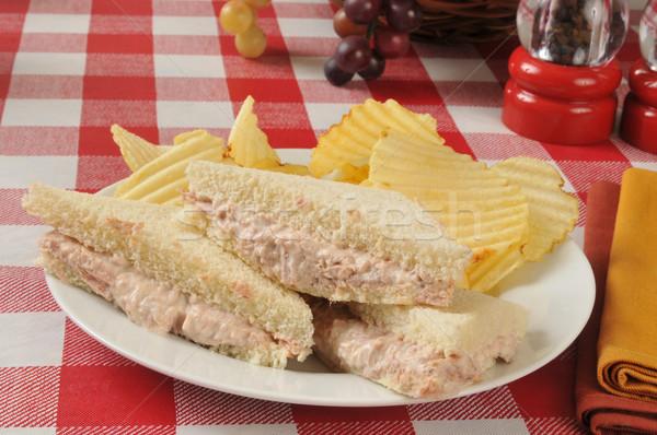 Tuna sandwich and chips Stock photo © MSPhotographic