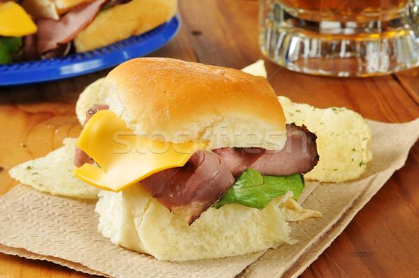Roast beef sliders Stock photo © MSPhotographic