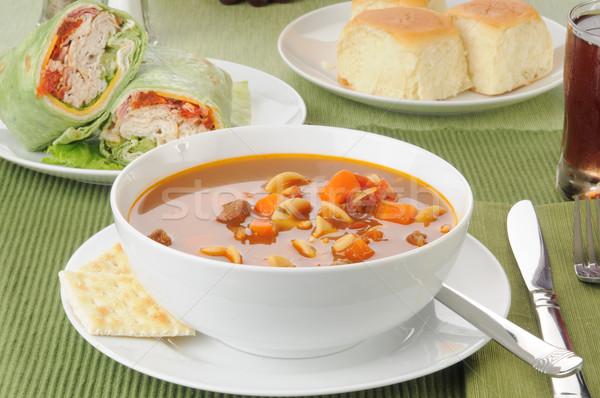 Zupa jarzynowa Turcja puchar kanapki klub Zdjęcia stock © MSPhotographic