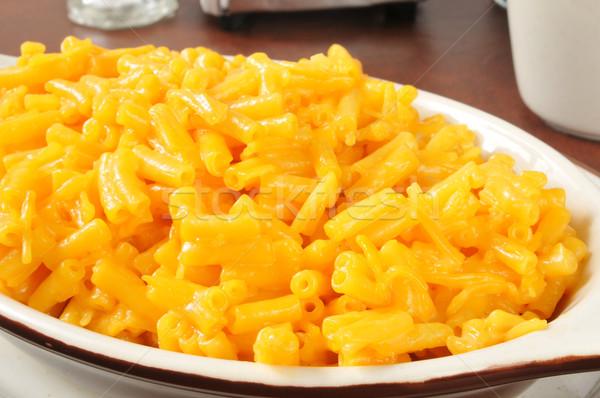 Makaróni sajt közelkép étel vacsora Stock fotó © MSPhotographic