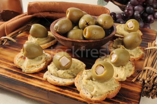 Zielone oliwek szpinak grecki Zdjęcia stock © MSPhotographic