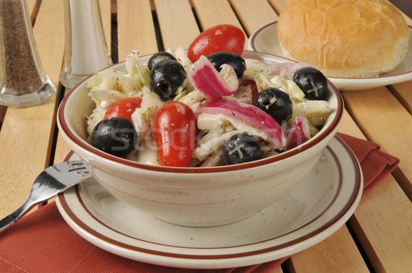 греческий капустный салат оливками лук чеснока Сток-фото © MSPhotographic