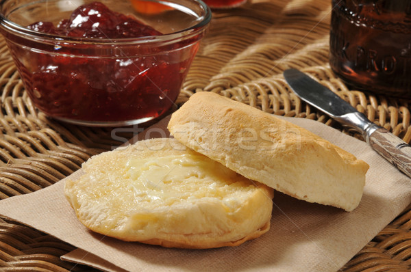 Biscuit with cranberry sauce Stock photo © MSPhotographic