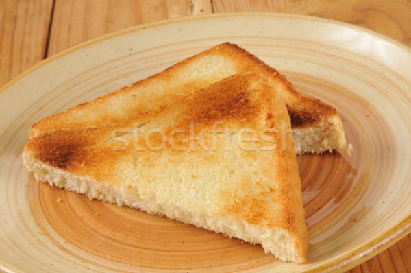 Teksas tost plaka ekmek kahvaltı Stok fotoğraf © MSPhotographic