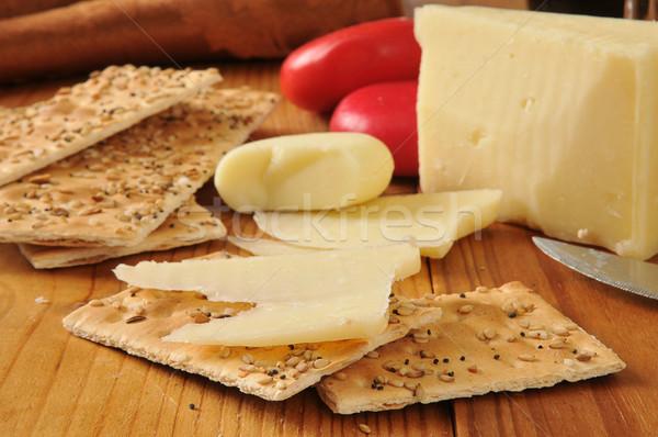 Asiago and gouda cheeses Stock photo © MSPhotographic