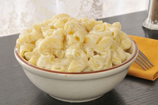 マカロニ チーズ ボウル パルメザンチーズ ソース ストックフォト © MSPhotographic