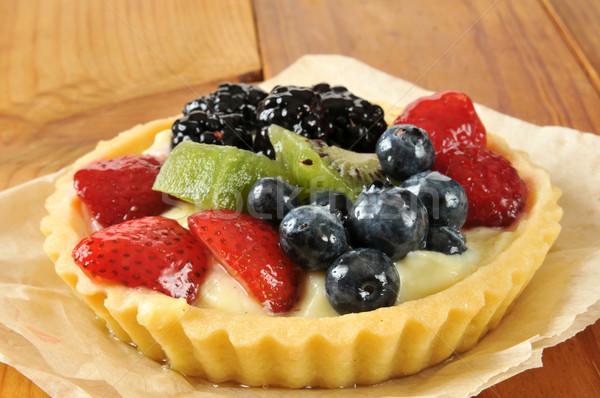 Gourmet fruit tart Stock photo © MSPhotographic