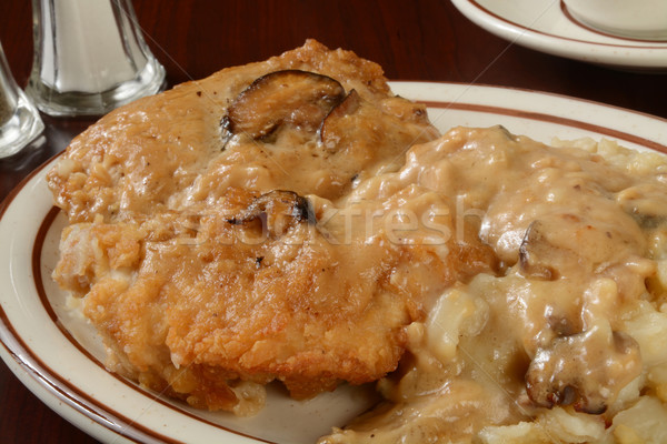 Chicken Marsala Stock photo © MSPhotographic