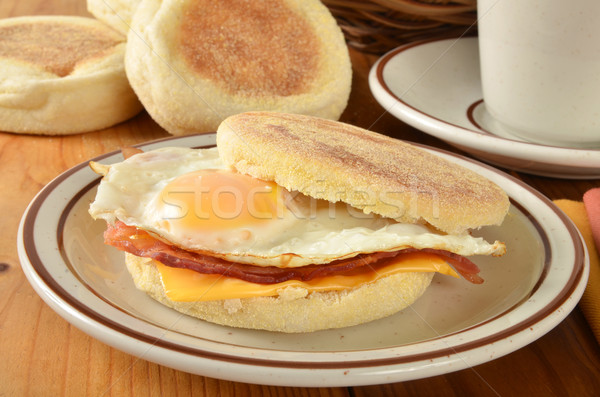 Bacon and egg muffin sandwich Stock photo © MSPhotographic