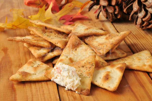 Pita pão batatas fritas creme queijo Foto stock © MSPhotographic