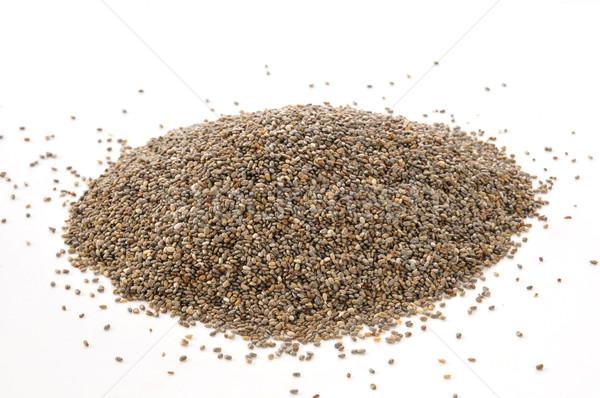 Chia seeds on white Stock photo © MSPhotographic