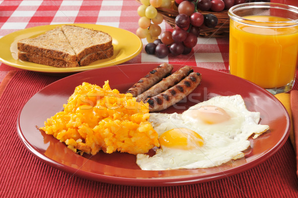 Sausage and egg breakfast Stock photo © MSPhotographic