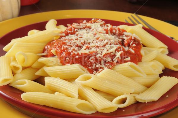 Penne rigate with marinara sauce Stock photo © MSPhotographic