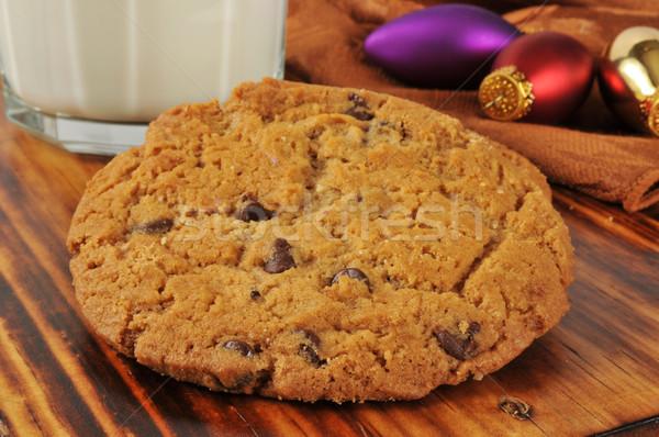 Chocolate chip cookies and milk Stock photo © MSPhotographic
