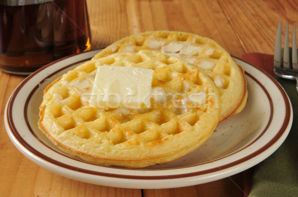 Waffles with butter Stock photo © MSPhotographic